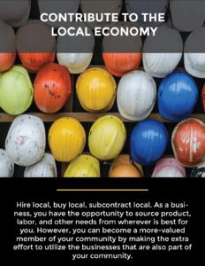 contribute to the local economy