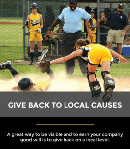 give back to local causes