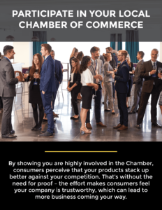 participate in your local chamber of commerce