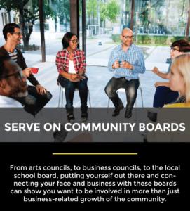 serve on community boards